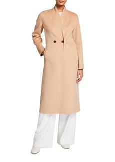 Neiman Marcus Double-Face Cashmere Two-Button Long Coat