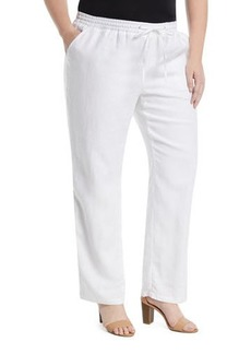 Neiman Marcus Drawstring Linen Pants