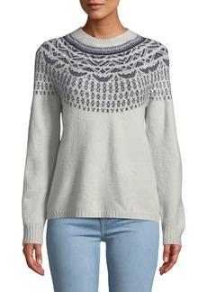 Neiman Marcus Fair Isle Long-Sleeve Pullover Sweater