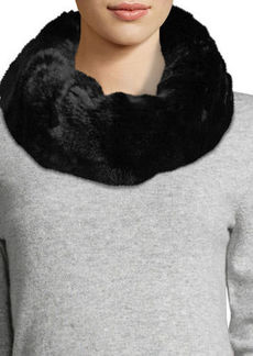 Neiman Marcus Faux-Fur Cowl Collar