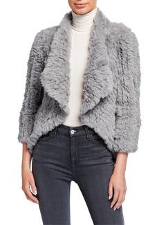 Neiman Marcus Faux-Fur Open Jacket