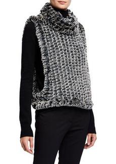 Neiman Marcus Faux-Fur Pullover Vest