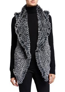 Neiman Marcus Faux Fur Shawl Vest