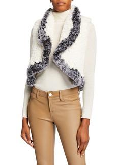 Neiman Marcus Faux-Fur Vest