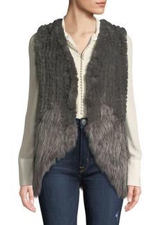 Neiman Marcus Faux-Fur Whisker Trim Vest