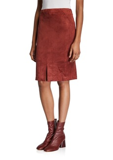 Neiman Marcus Faux Suede Skirt