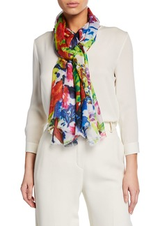Neiman Marcus Floral Scarf