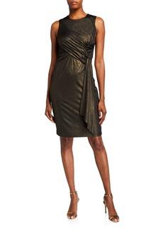 Neiman Marcus Foil Jersey Dress