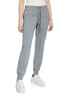 Neiman Marcus French Terry Mid-Rise Jogger Pants