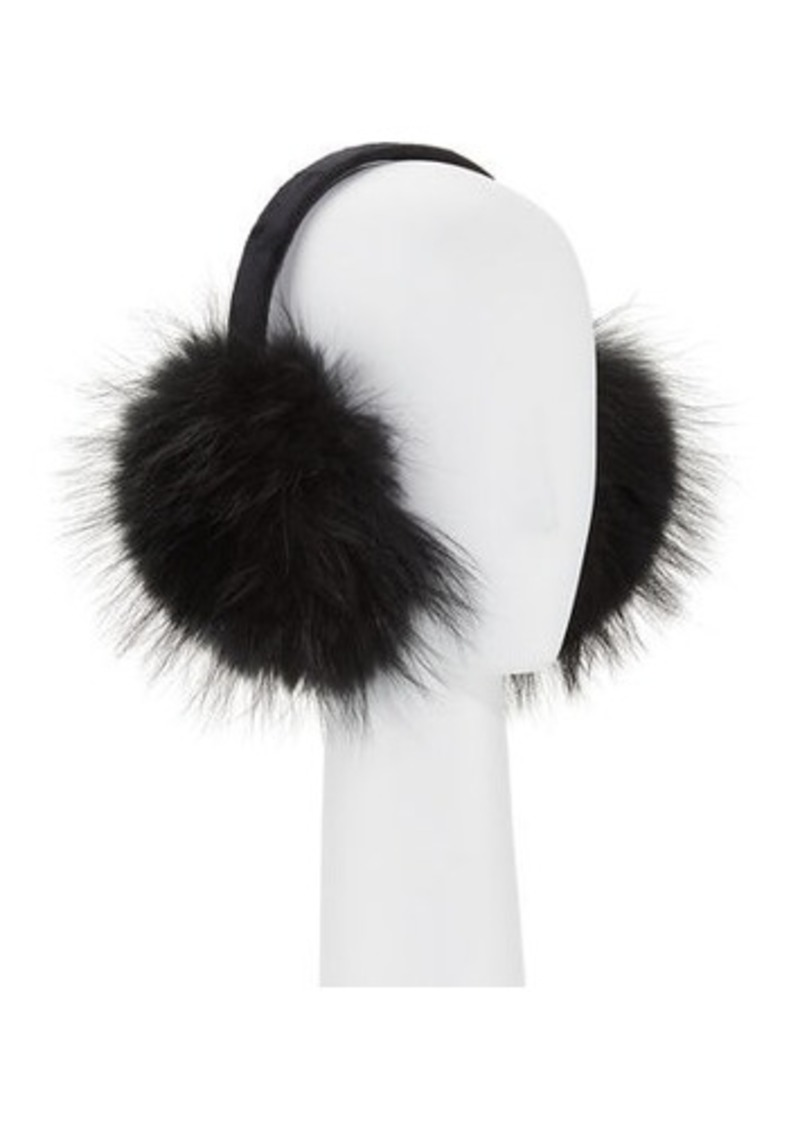 Neiman Marcus Fur Earmuffs with Velvet Band