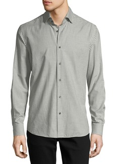 Neiman Marcus Gingham Long-Sleeve Sport Shirt