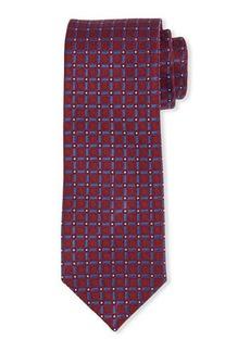 Neiman Marcus Grid Print Silk Tie