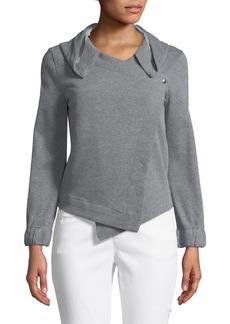 Neiman Marcus Hooded Blazer-Style Sweatshirt