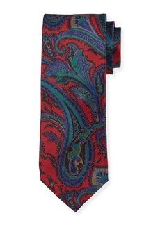 Neiman Marcus Italian-Made Tapestry Silk Tie