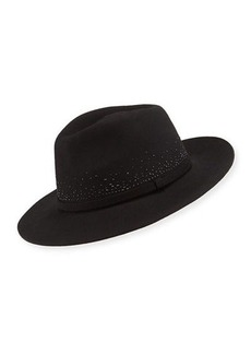 Neiman Marcus Jeweled Wool Fedora