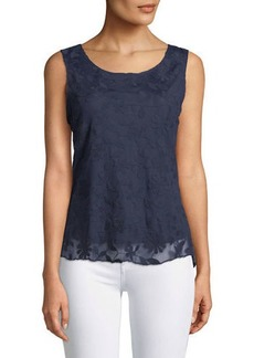 Neiman Marcus Lace High-Low Tank