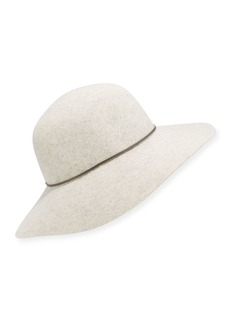 Neiman Marcus Large Brim Rounded Floppy Hat