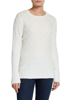 Neiman Marcus Lattice Stitch Pullover