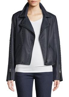Neiman Marcus Leather Jacket w/ Studs