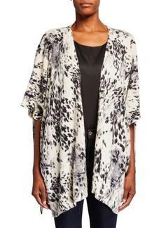 Neiman Marcus Leopard Print Cashmere Wrap
