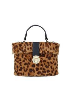 Neiman Marcus Leopard-Print Hat Box Bag