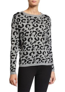 Neiman Marcus Leopard-Print Pullover