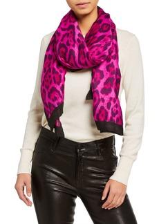 Neiman Marcus Leopard-Print Scarf