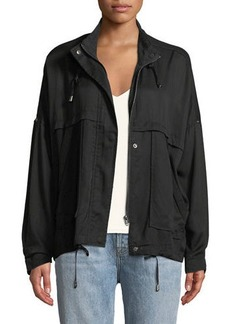 Neiman Marcus Lightweight Roll-Sleeve Spring Jacket