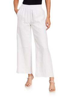 Neiman Marcus Linen Wide Leg Pants