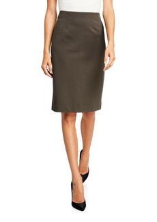 Neiman Marcus Logan Knit Pencil Skirt