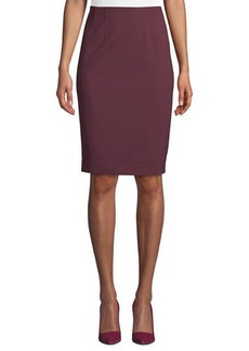 Neiman Marcus Logan Knit Pencil Skirt