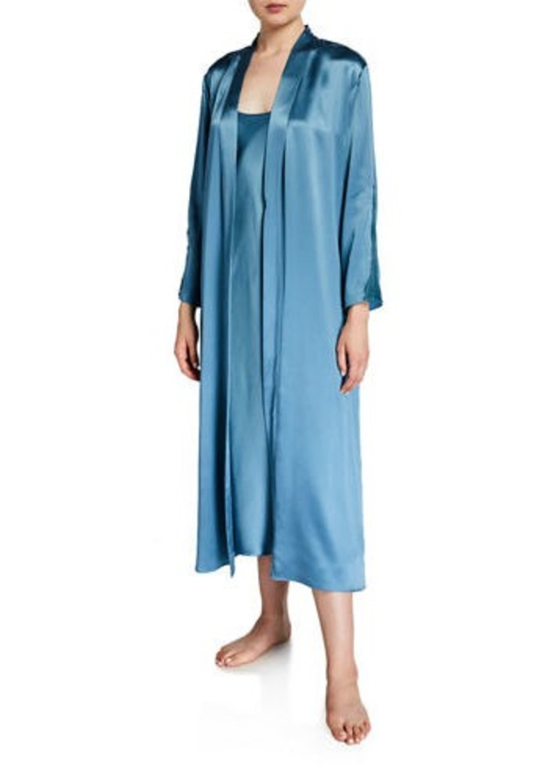 Neiman Marcus Long Silk Robe