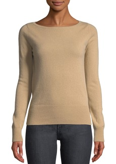Neiman Marcus Long-Sleeve Cashmere Boat-Neck Sweater