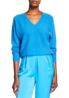 Neiman Marcus Long-Sleeve Dolman Cashmere Sweater