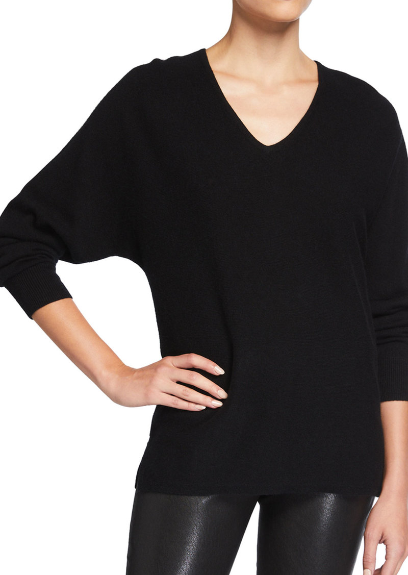 Neiman Marcus Long-Sleeve Dolman Cashmere Sweater