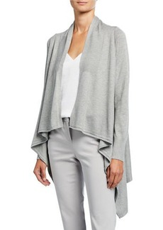 Neiman Marcus Long-Sleeve High-Low Cardigan