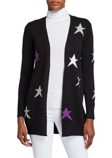 Neiman Marcus Long-Sleeve Star Cardigan