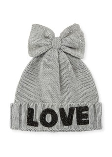 Neiman Marcus Love Beanie with Bow