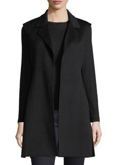 Neiman Marcus Luxury Notched Double-Face Cashmere Vest