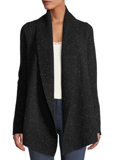 Neiman Marcus Marled-Cashmere Open-Front Duster Cardigan