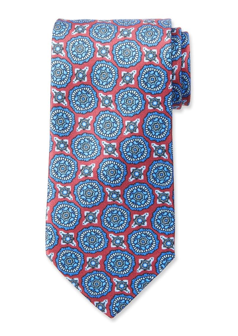 Neiman Marcus Medallion Silk Tie
