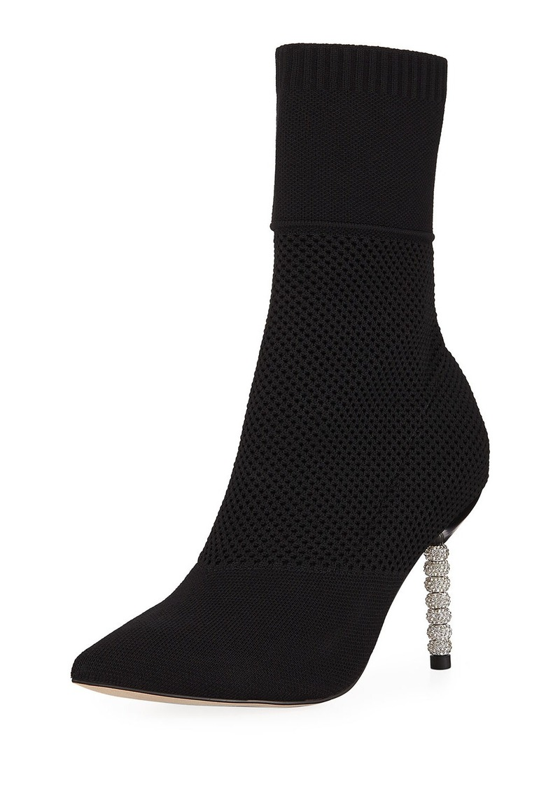 Neiman Marcus Megan Knit Pointed Booties