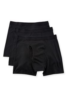 Neiman Marcus Men's 3-Pack Cotton-Stretch Boxer Briefs  Black