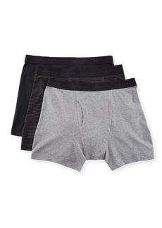 Neiman Marcus Men's 3-Pack Stretch Basics Cotton Boxer Briefs  Multi