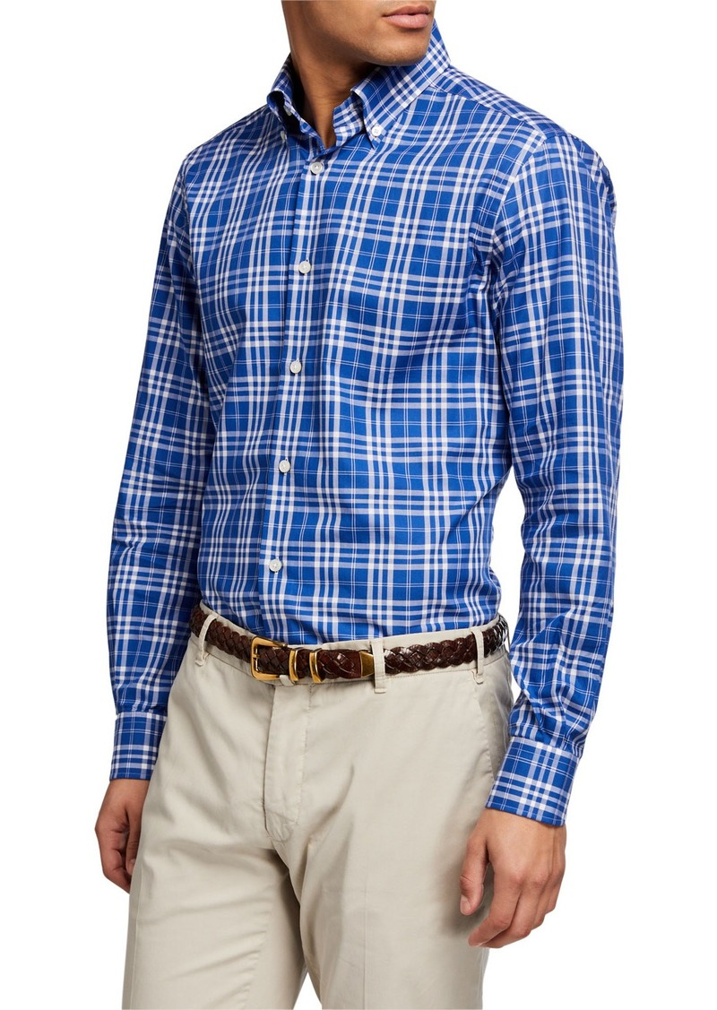 Neiman Marcus Men's Altea Tartan Plaid Sport Shirt