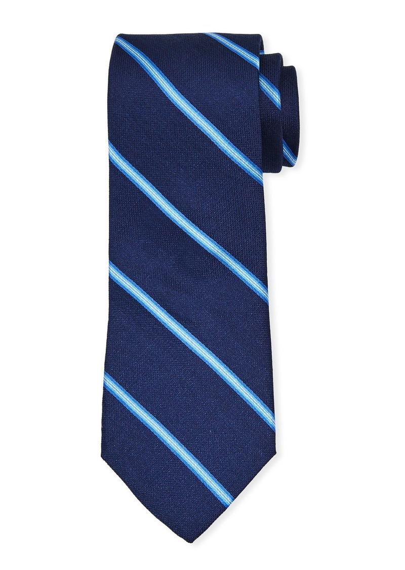 Neiman Marcus Men's Bar Stripe Silk Tie