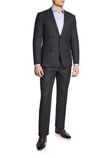 Neiman Marcus Men's Birdseye Weave Two-Piece Suit