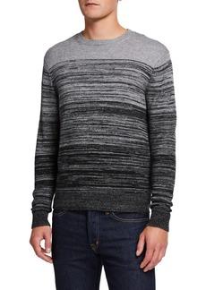 Neiman Marcus Men's Cashmere-Blend Ombre Sweater