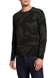 Neiman Marcus Men's Cashmere Camo Sweater