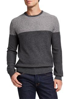 Neiman Marcus Men's Cashmere Colorblock Sweater